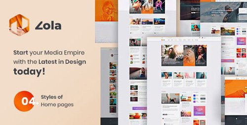 ThemeForest - Zola v1.0 - Concept Magazine News Blogs PSD Template - 23330829