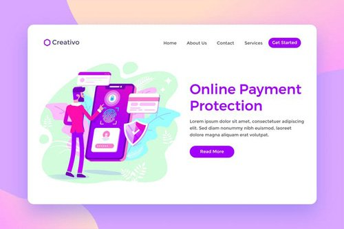 Online Payment Protection, Banking Landing Page