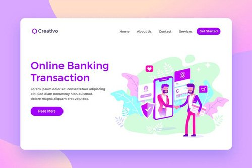 Online Banking Transaction Protection Landing Page