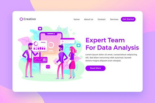 Expert Team Data Analysis Services Landing Page