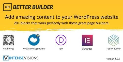 CodeCanyon - Better Builder v1.0.3 - Addon for WordPress Page Builders - 23117965