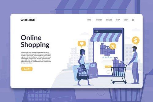 Digital Shopping Landing Page