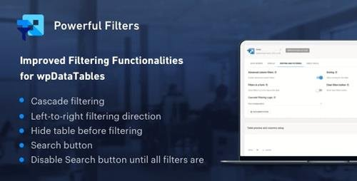 CodeCanyon - Powerful Filters for wpDataTables v1.0.4 - Cascade Filter for WordPress Tables - 21015802