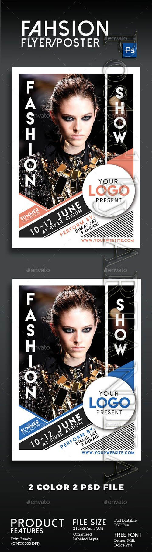 Graphicriver - Fashion Show Flyer Poster Vol 2 16292512