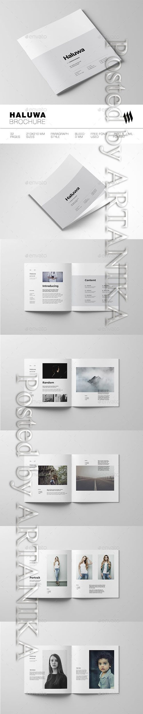 Graphicriver - Haluwa Square Brochure 19077735
