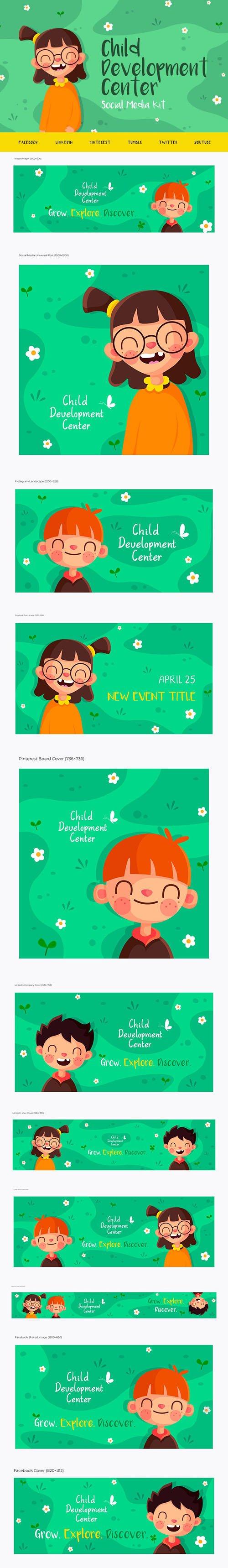 Child Development Center - Social Media Kit