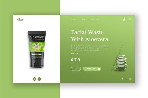 Skin Care Hero Header PSD Template
