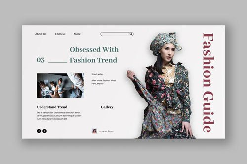 Urban Fashion Hero Header PSD Template