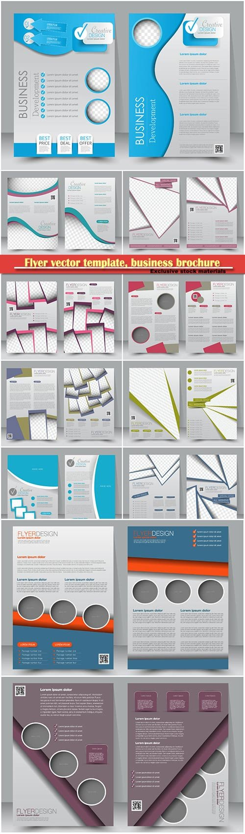 Flyer vector template, business brochure, magazine cover # 12