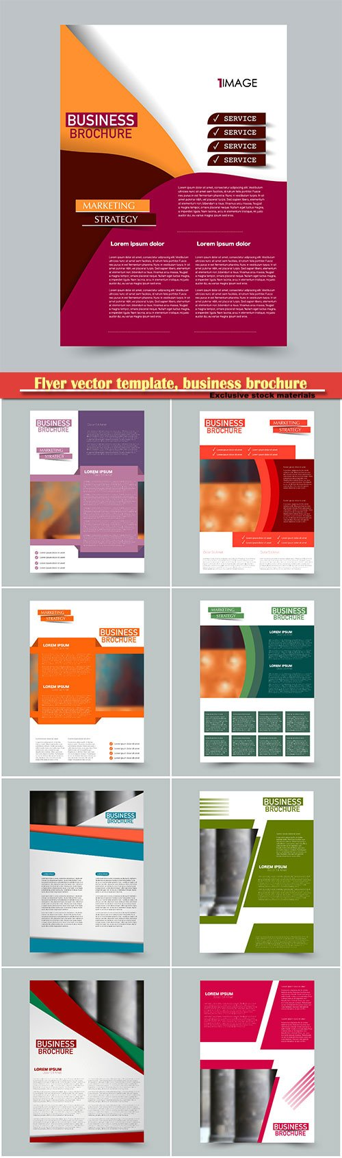 Flyer vector template, business brochure, magazine cover # 14