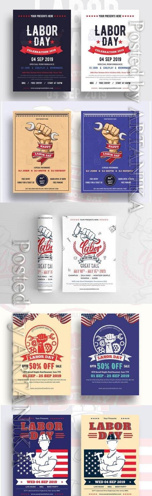 Labor Day Flyer Template 3