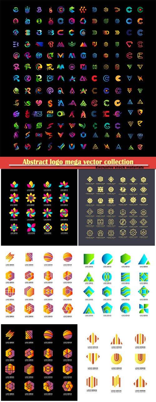 Abstract logo mega vector collection