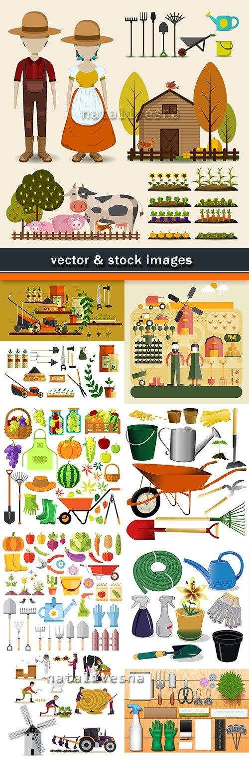 Garden stock for agriculture and farm an illustration vector