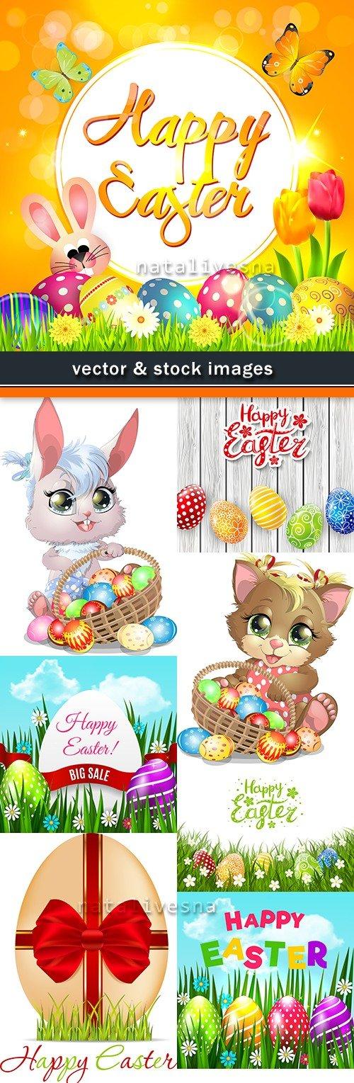 Happy Easter decorative illustration design elements 19