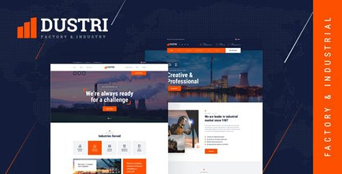 ThemeForest - Dustri - Factory & Industrial PSD Template 23685401