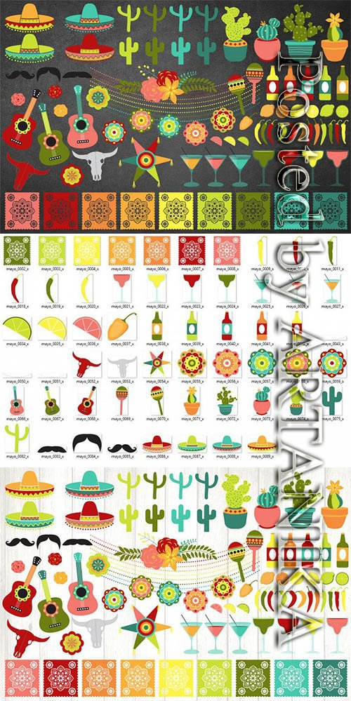 DesignBundles - Cinco de Mayo Vector Clipart