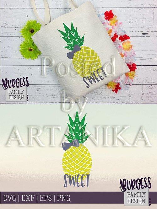 Designbundles - Pineapple bow Clipart