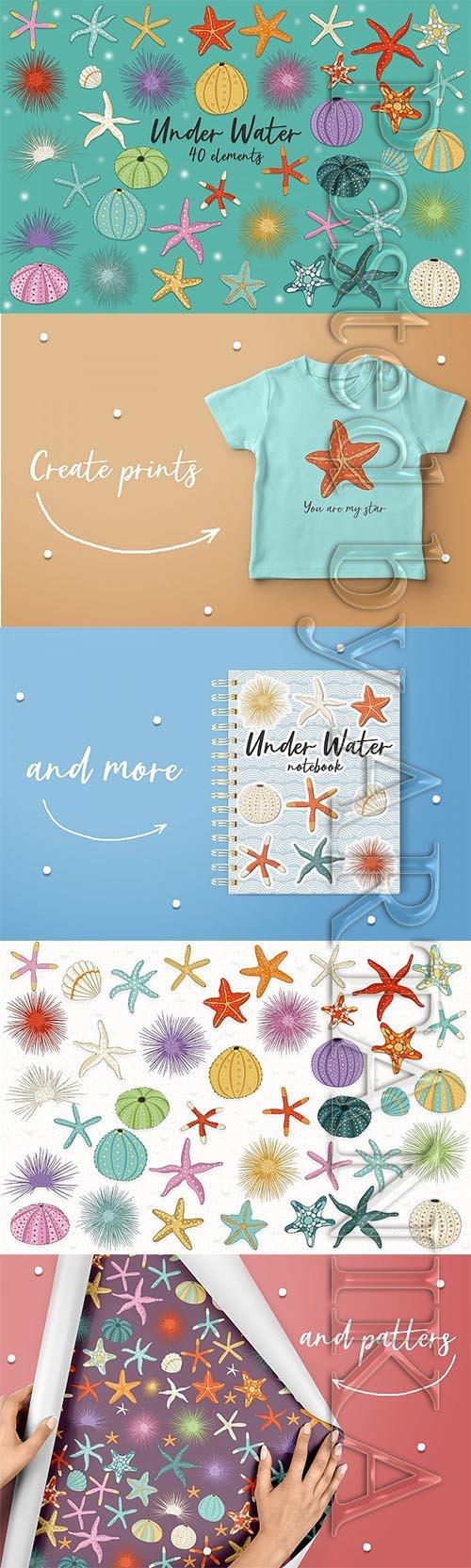 Designbundles - Under Water designs for prints and patterns