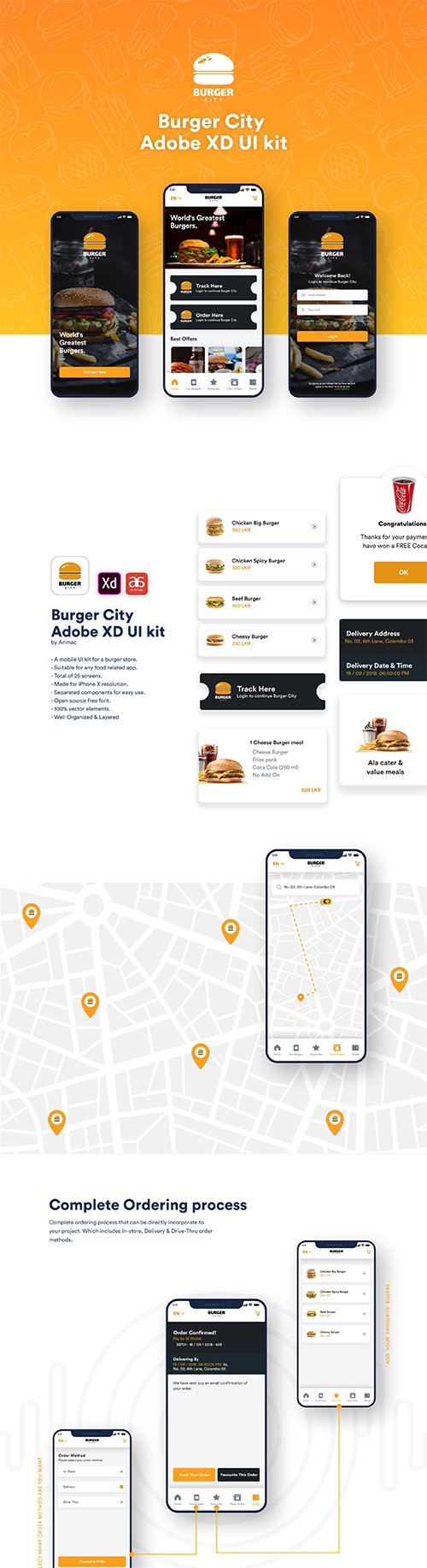 Burger City UI kit