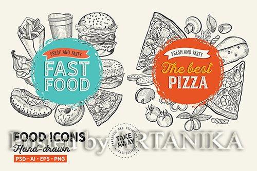 Fast Food Hand-Drawn Graphic