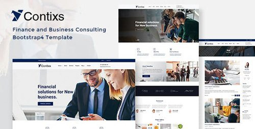 ThemeForest - Contixs v1.0 - Finance and Business Consulting Bootstrap 4 Template - 23701556