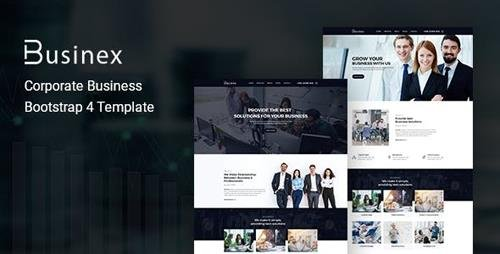 ThemeForest - Businex v1.0 - Corporate Business Bootstrap4 Template - 23716767