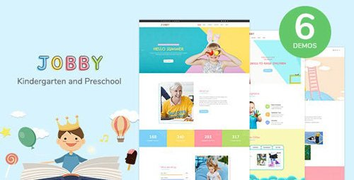 ThemeForest - Jobby v1.0 - Day Care and Kindergarten HTML5 Template - 23189668