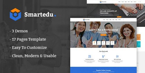 ThemeForest - SmartEdu v1.0 - Education & Courses HTML Template - 23218895