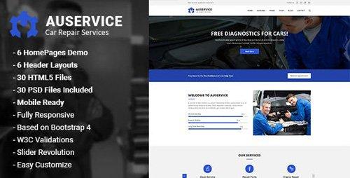 ThemeForest - Auservice v1.0 - Auto Mechanic & Auto Repair HTML5 Template - 22980836