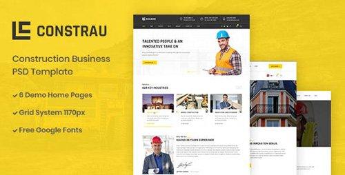ThemeForest - Constrau v1.0 - Construction Business PSD Template - 23245790