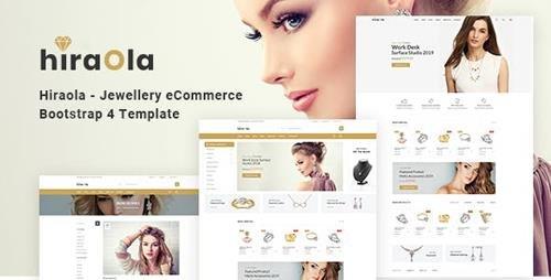 ThemeForest - Hiraola v1.0 - Jewellery eCommerce Bootstrap 4 Template - 23725409