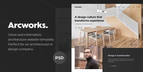ThemeForest - Arcworks v1.0 - Architecture Firm PSD Template - 23659073