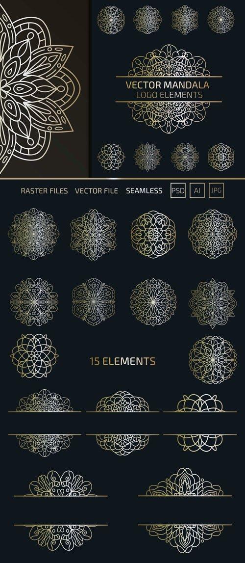 Mandala Logo Vector Elements