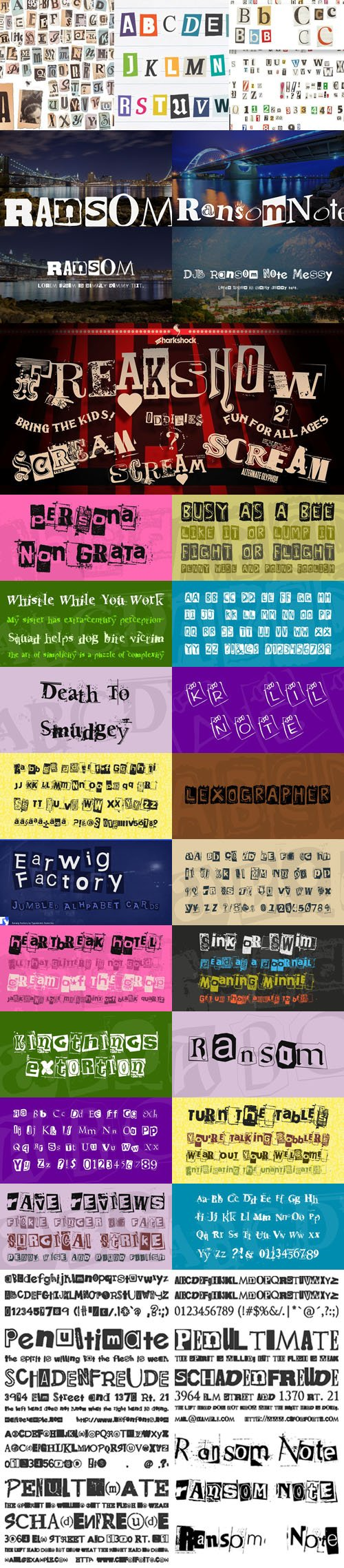 17 Note Fonts Collection
