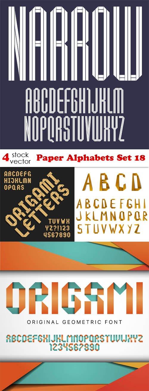 Vectors - Paper Alphabets Set 18