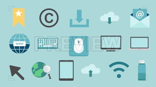 MotionArray - Computer & Internet Icons Pack 208470