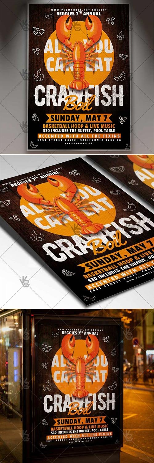 Crawfish Flyer ? Business PSD Template