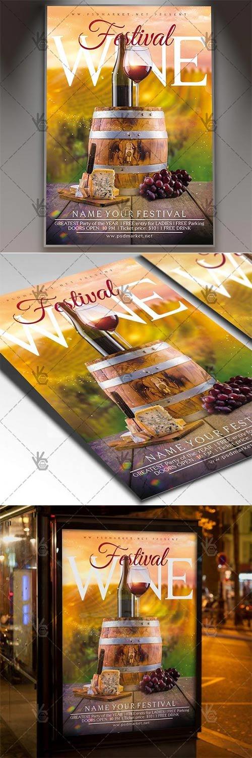 Wine Festival ? Business Flyer PSD Template