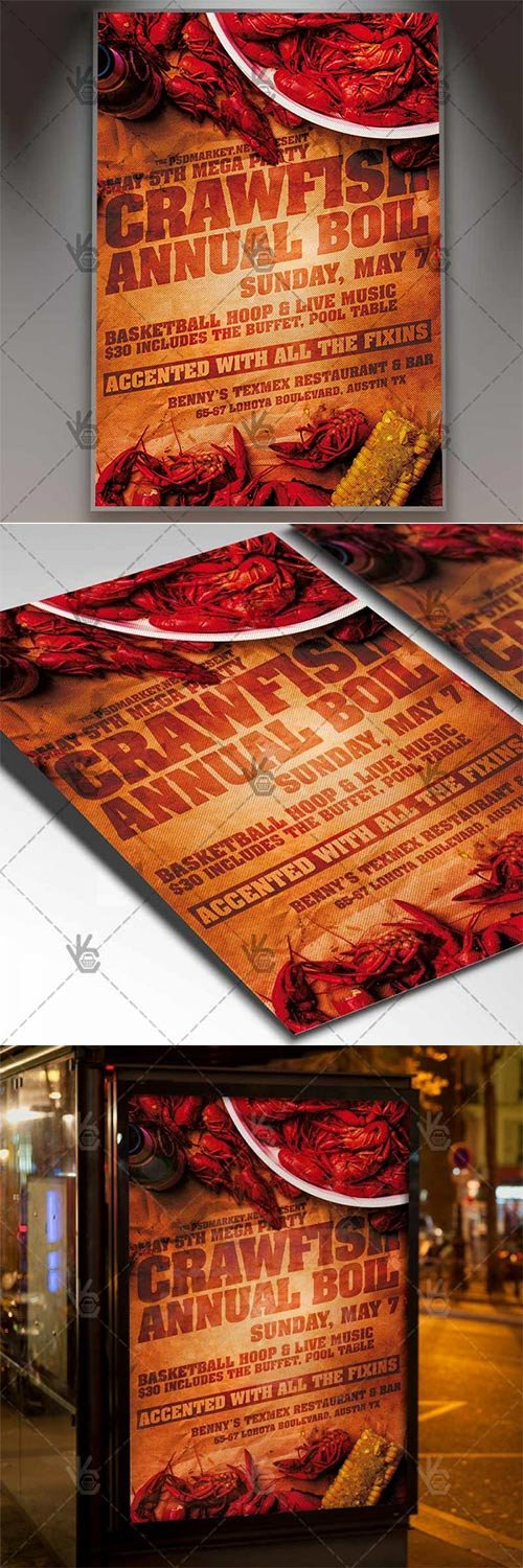 Crawfish Boil Flyer ? Business PSD Template