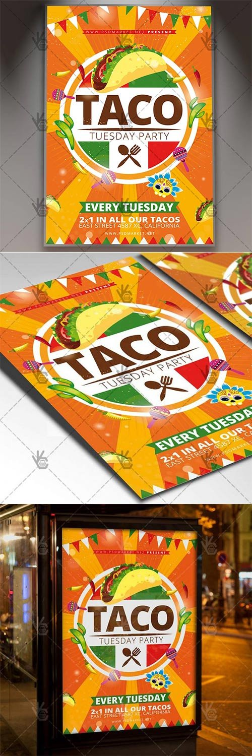 Taco Tuesday ? Mexican Flyer PSD Template