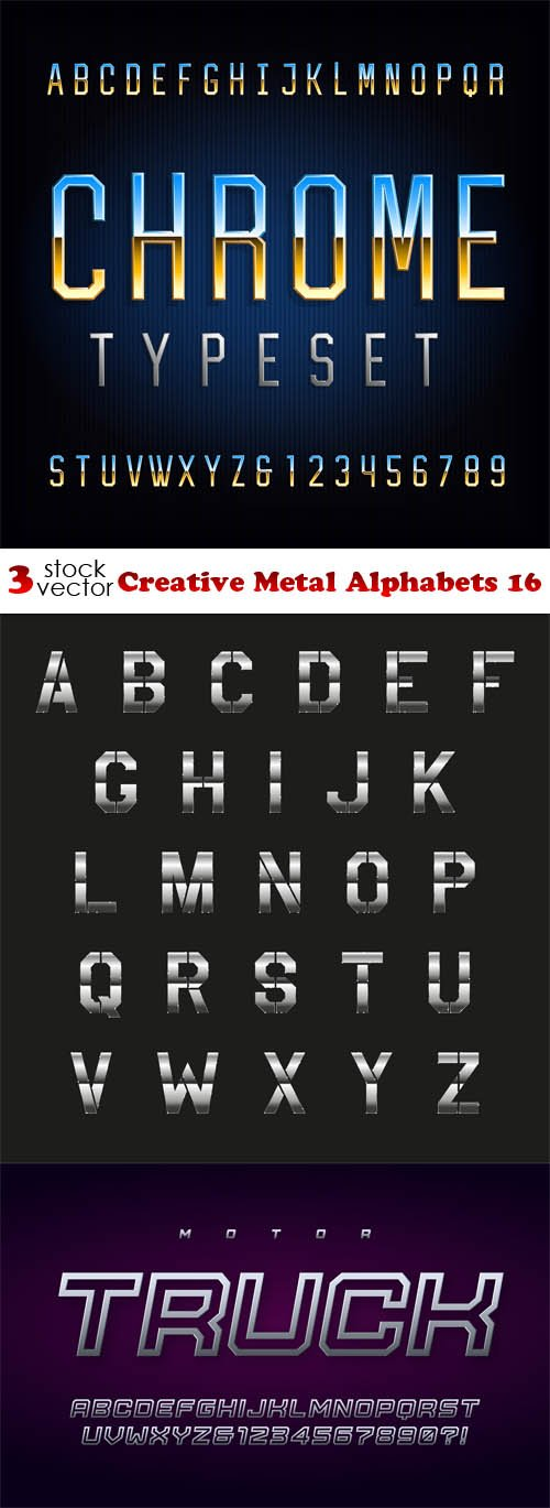Vectors - Creative Metal Alphabets 16
