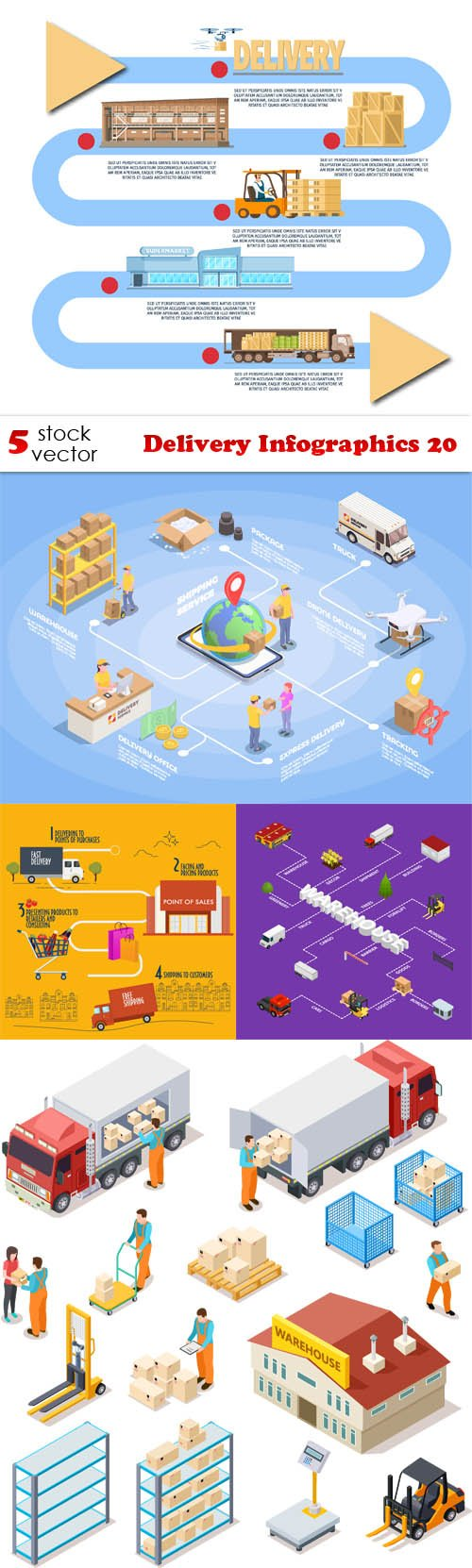 Vectors - Delivery Infographics 20