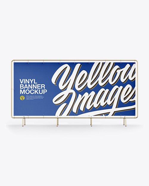 Vinyl Banner Mockup - Front View 40520 Layered TIF