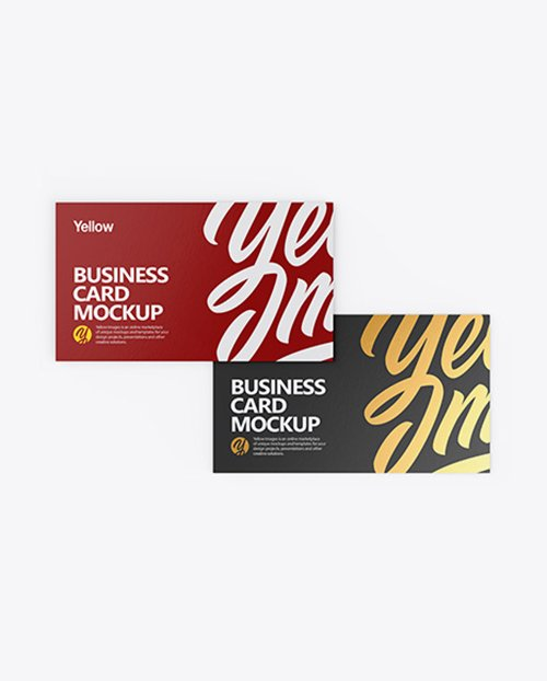 Two Paper Business Cards Mockup 41287 Layered TIF