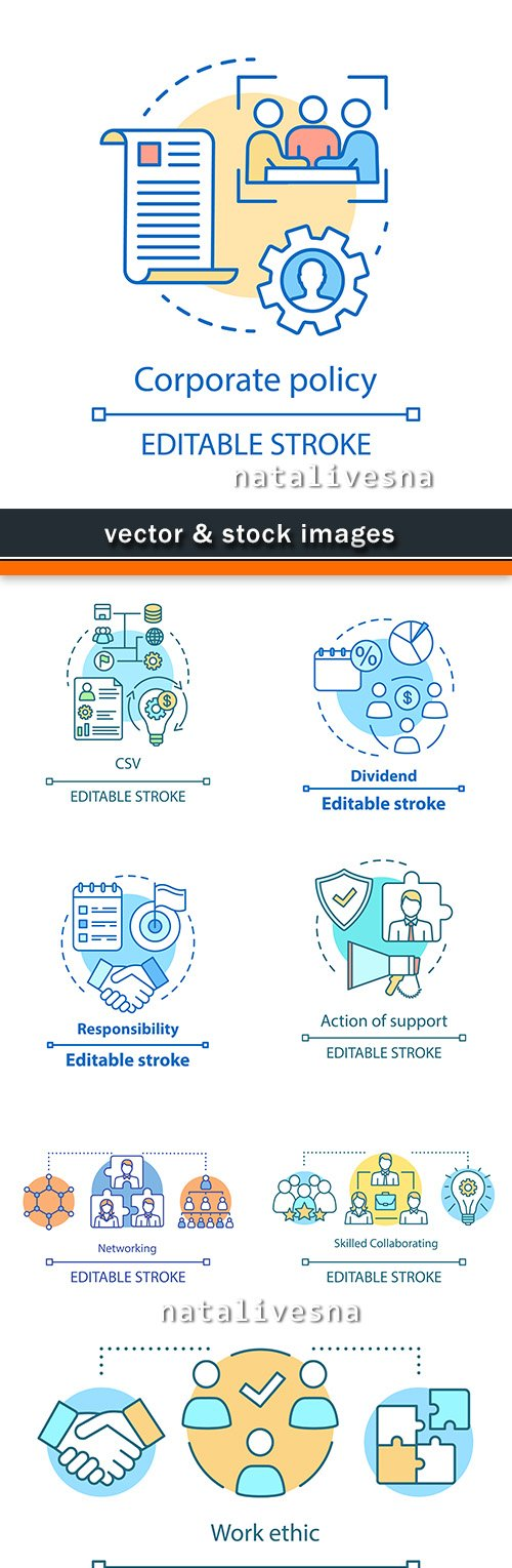 Corporate offer and social support vector elements