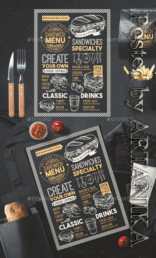 GR - Sandwich Food Menu 22670298