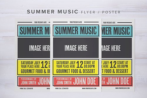 Summer Music Flyer PSD