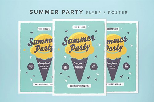 Summer Party Flyer 2 PSD