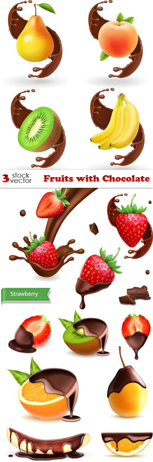 Vectors - Fruits with Chocolate