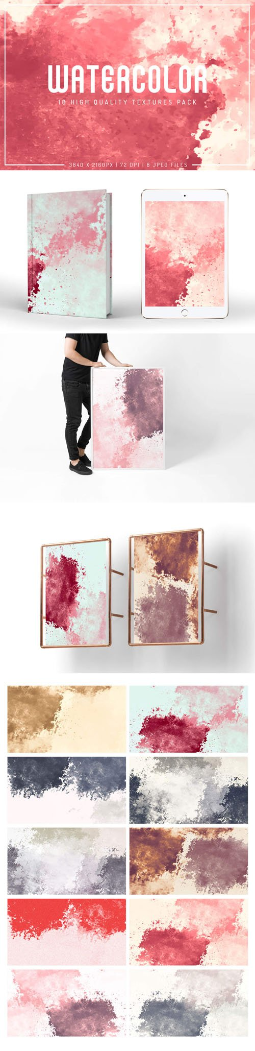 Watercolor - 10 High Quality Textures Pack